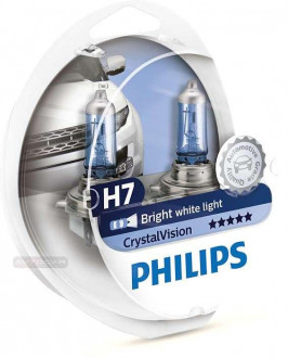 Philips CrystalVision 4300K, тип ламп Н7 + W5W, комплект 2+2шт.