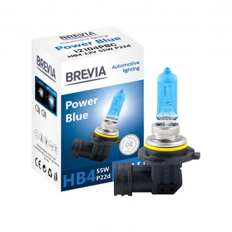 Автолампа HB4 12V 55W P22d Brevia Power Blue 4200K (Южная Корея)