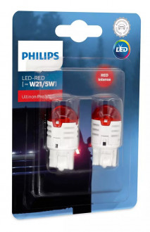 Автолампы Philips Ultinon Pro3000 LED W21/5W LED 12V 0.8/1.75W W3X16D (11066U30RB2) 2шт
