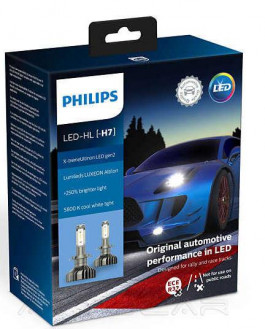 Philips X-tremeUltinon LED gen2 +250% H7 25Вт 1500лм 11972XUWX2