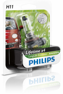 Philips LongLife EcoVision H11 12V 55W PGJ19-2