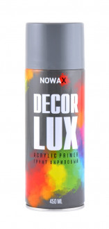 Грунтовка акриловая серая NOWAX Decor Lux ( аэрозоль 450мл.) NX48035