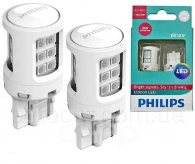 Автолампы Philips Ultinon W21/5W RED 11066ULRX2