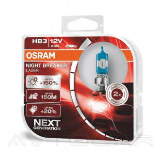 OSRAM Night Breaker Laser +150% НB3 9005NLHCB 2шт в комплекте